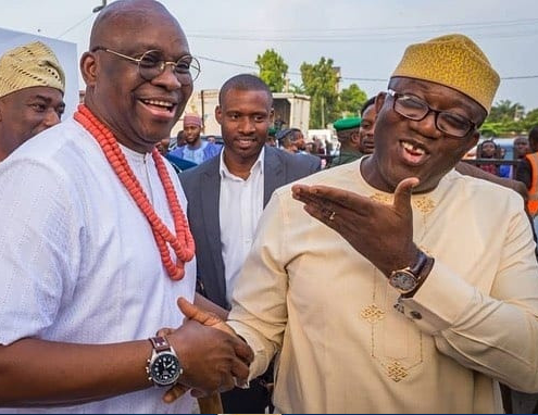 Caption This Photo of Governor Fayemi And Ayo Fayose