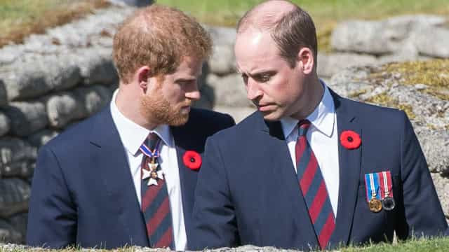 Príncipes Harry e William caminharão separadamente em cortejo fúnebre do avô