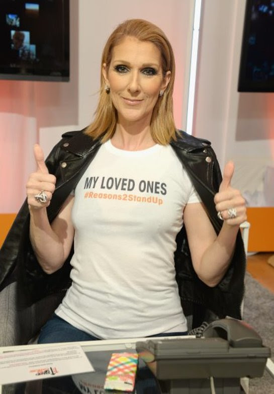 Celine Dion attends Stand Up To Cancer