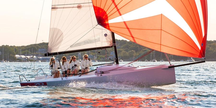 J/70 women's sailing team