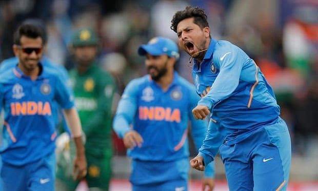 Kuldeep Yadav completely shattered Babar Azam's defense.in the game against Pakistan
