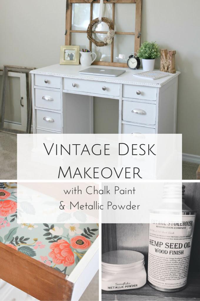 Vintage-Desk-Makeover