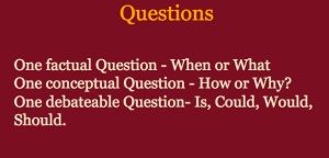 Question prompts.