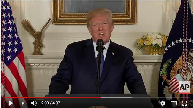 US President                                                       Donald J. Trump -                                                       April 13 2018