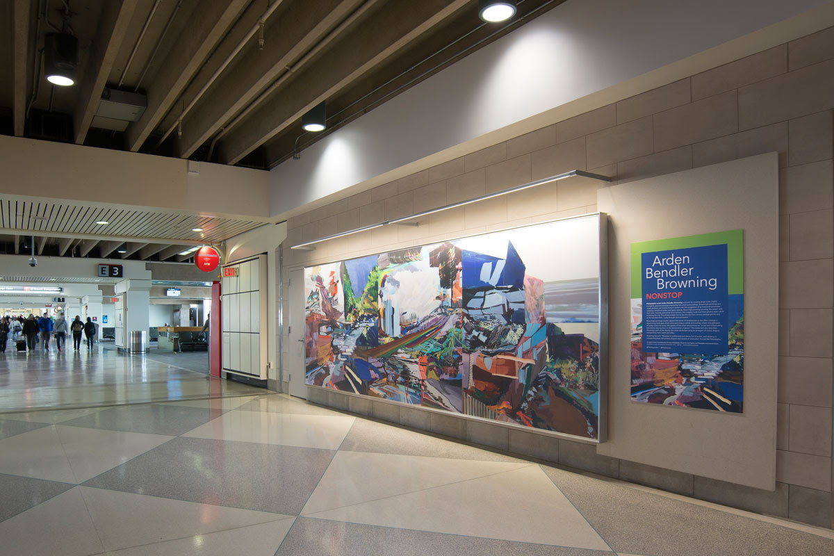 New Public Artwork by Arden Bendler Browning on Display at the  Philadelphia International Airport