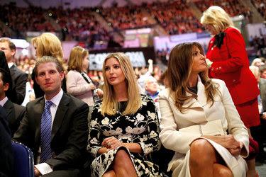 Ivanka and Melania Trump at a presidential debate in South Carolina.