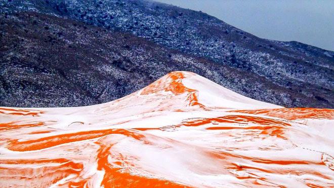 Năm 2017, tuyết lại lần nữa vây kín Ain Sefra.