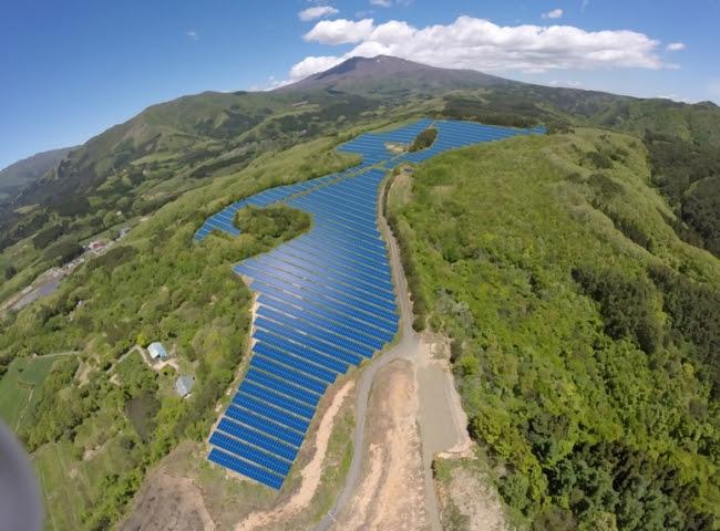 シャープ七ヶ宿太陽光発電所 完成予想図