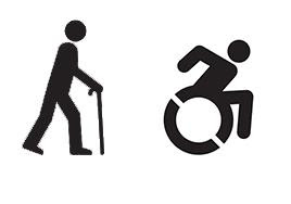 Symbol for wheelchair and limited mobility accessibility