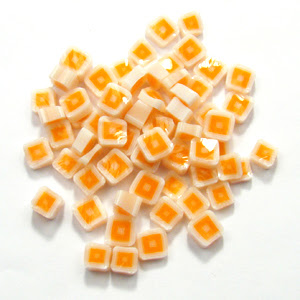 Orange Hip To Be Square Millefiori - 90 COE - SQ03