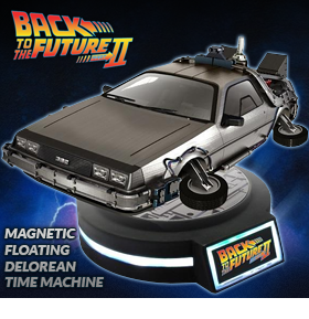 BACK TO THE FUTURE II MAGNETIC LEVITATING DELOREAN