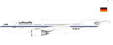 IF310GAF0820 | InFlight200 1:200 | Airbus A310 German Air Force 1021 (with stand) | is due : July 2020