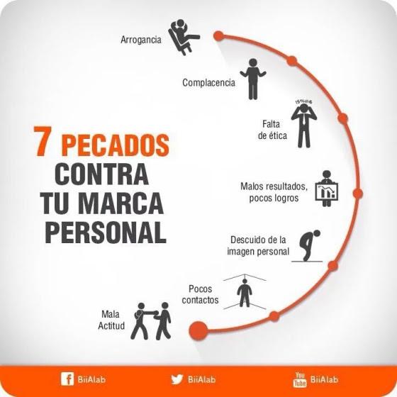 7 pecados contra tu Marca Personal