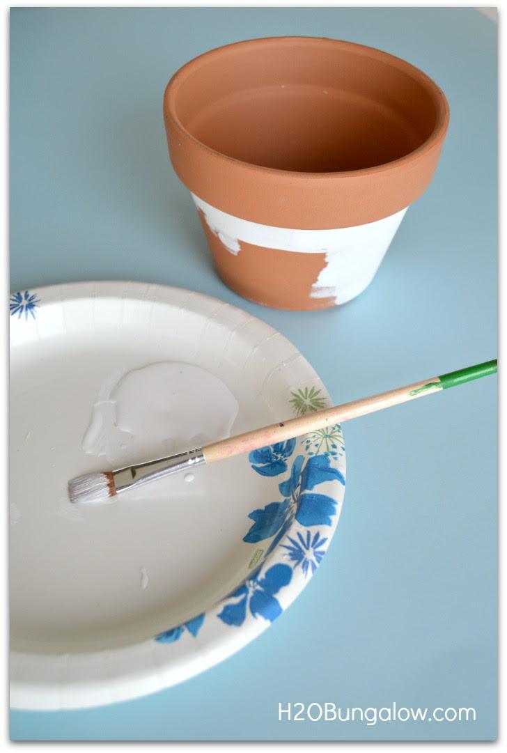 start with plain terracotta