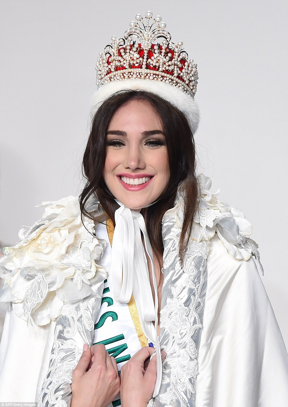 Miss Venezuela Edymar Martinez fended off competition from beauties from 70 countries and regions across the globe to be crowned Miss International 2015 (pictured)