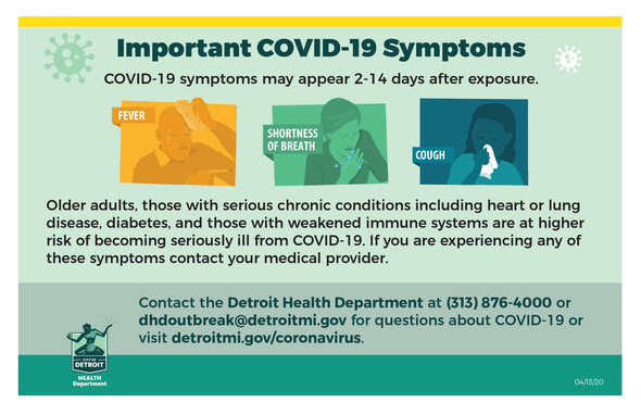 COVID Health Dept. Symptoms