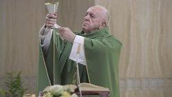 El Santo Padre celebra la Misa matutina en la Capilla de la Casa de Santa Marta