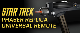 STAR TREK THE ORIGINAL SERIES PHASER UNIVERSAL REMOTE