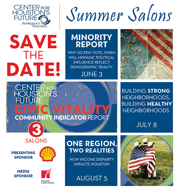 "Summer Salon Series - ""Building Strong Neighborhoods, Building Healthy Neighborhoods"" @ The Junior League of Houston, Inc. 