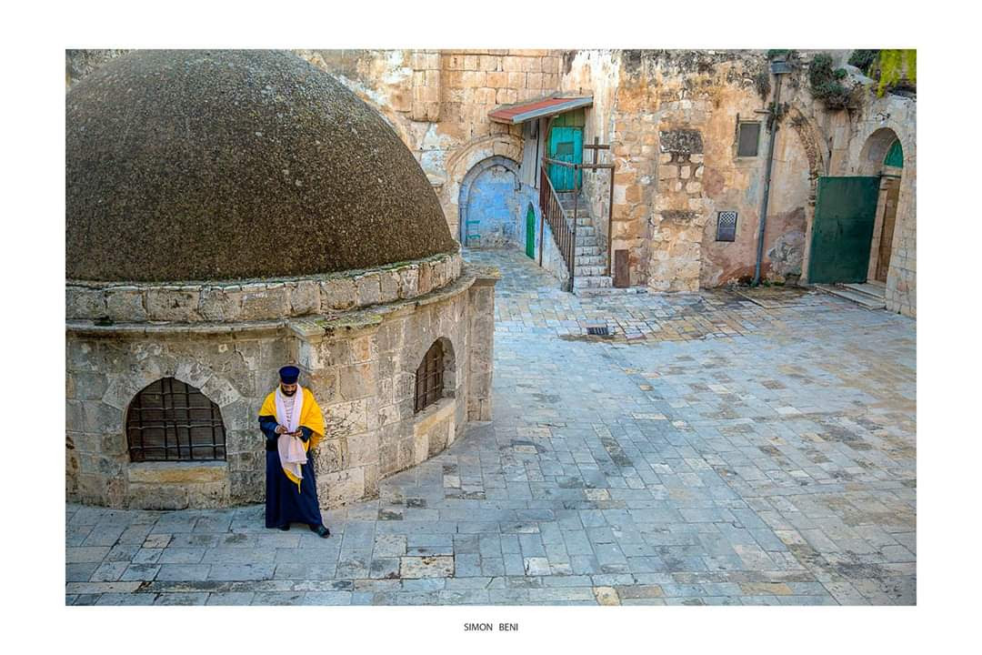 DEIR as-SULTAN Ethiopian village on the rooftop of the Holy Sepulcher