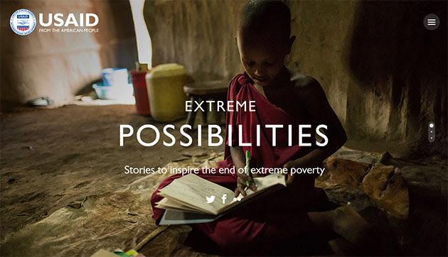 Extreme Possibilities. Stories to inspire the end of extreme poverty. Photo of a young boy studying.