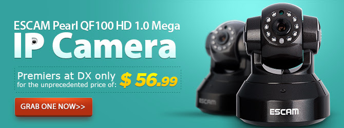 ESCAM QF100HD IP Camera Pre-sale, $56.99 Only + Free Shipping