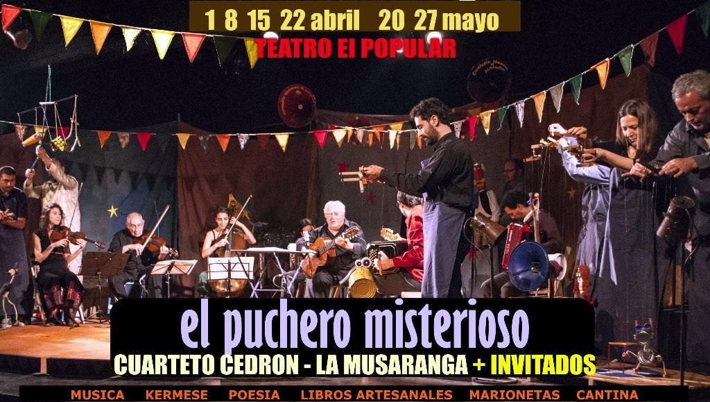 Tata Cedrón y Orquesta La Musaranga presentan el Puchero Misterioso @ Teatro EL POPULAR