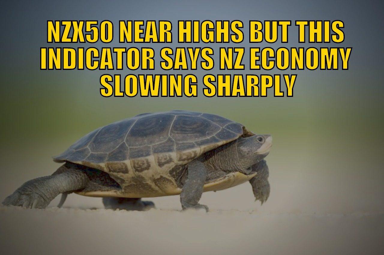 NZX50 Near Highs But This Indicator Says the NZ Economy is Slowing Sharply