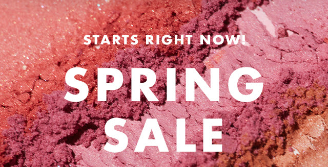 Starts Right Now! Spring Sale