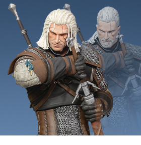 The Witcher 3: Wild Hunt Geralt Heart of Stone Deluxe Figure