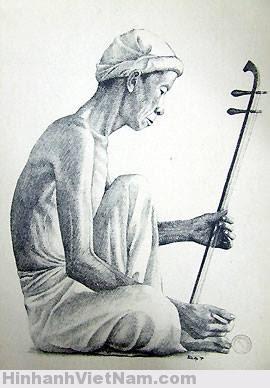 Một người chơi đàn cò.