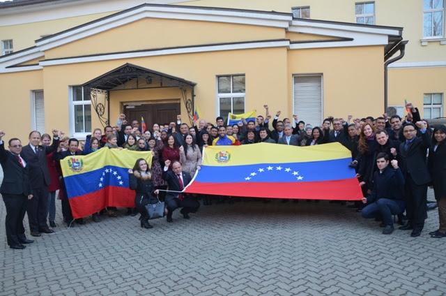 Jóvenes rusos de los movimientos de solidaridad con la Revolución Bolivariana rechazaron agresiones gringas