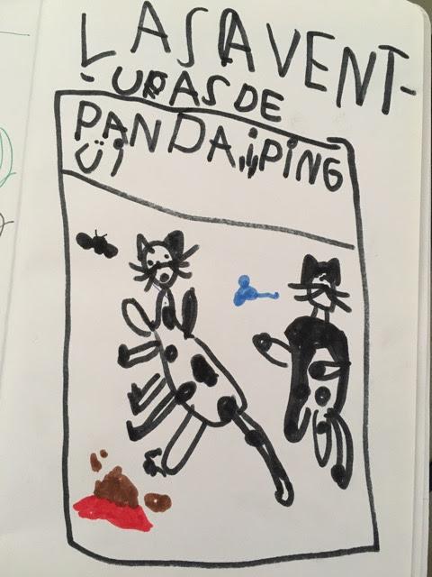 Dibujo de Panda y Pingüi hecho por León