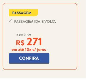 Passagem para o Rio de Janeiro a partir de 271 reais.