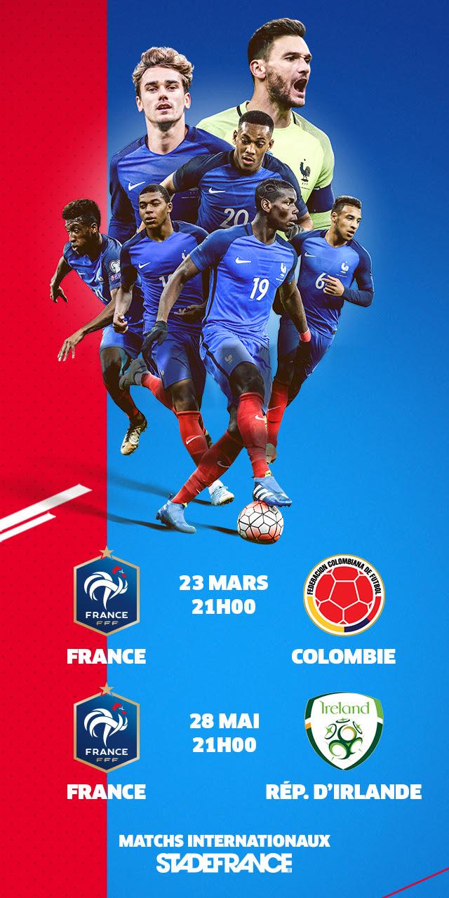 FRANCE - COLOMBIE : FRANCE / IRLANDE