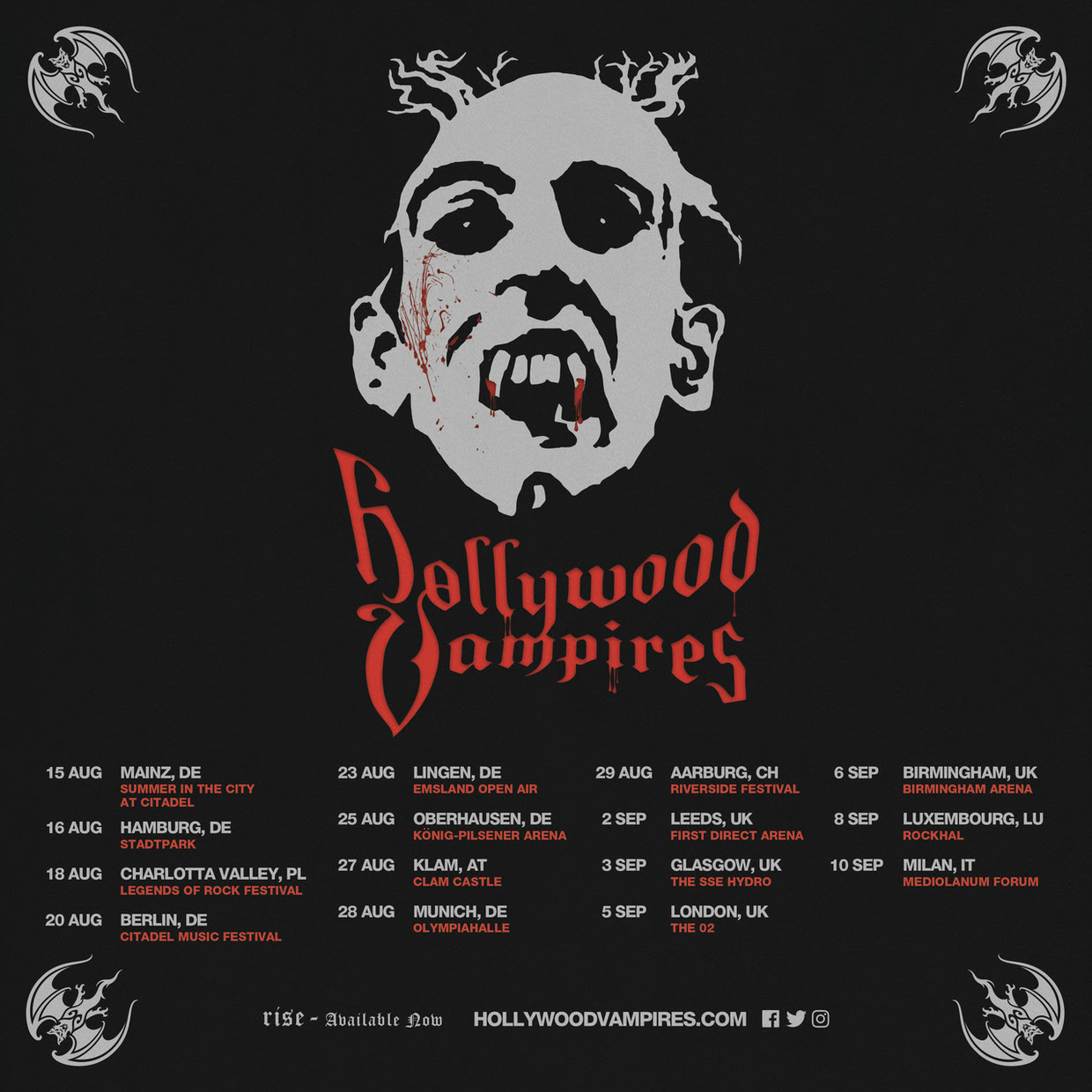 Hollywood Vampires Tour Dates