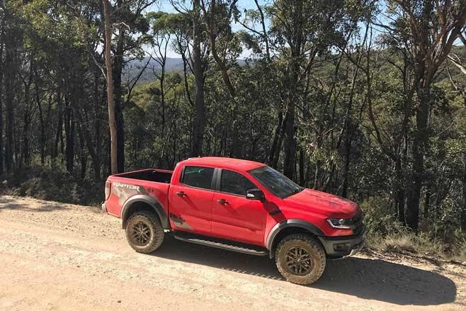 2019 Ford Ranger Raptor red 4x4 ute