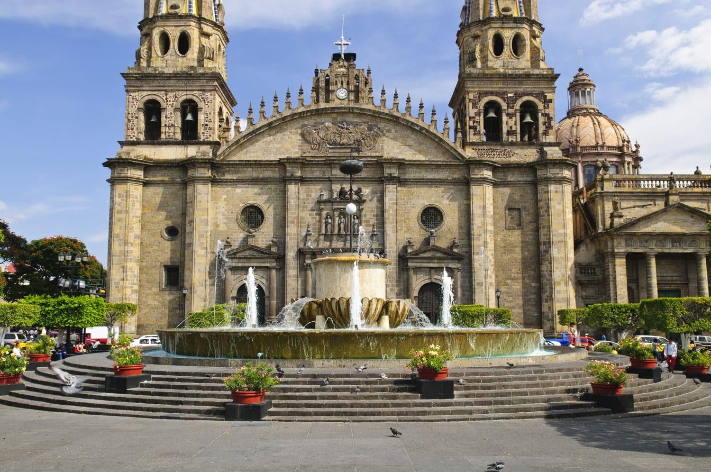 Guadalajara, Jalisco, Meksika tarihi merkezinde katedral