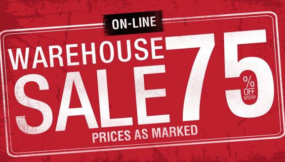 Warehouse Sale: 75% off at Har...
