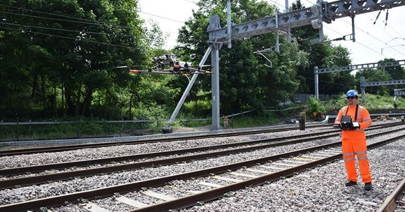 Network Rail take to the skies to improve safety and performance on south western rail network