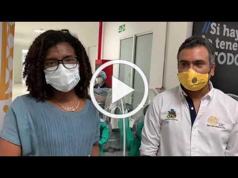 Entrega de cabina despresurizada para traslado de pacientes con Covid-19 en Santander