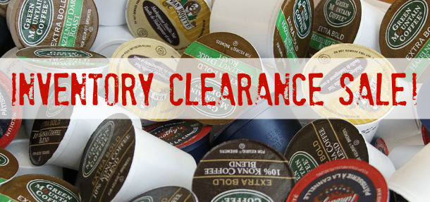 Keurig K-cup Inventory Clearance Sale!