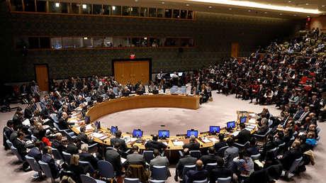 El Consejo de Seguridad en la sede de la ONU en Nueva York, EE.UU.