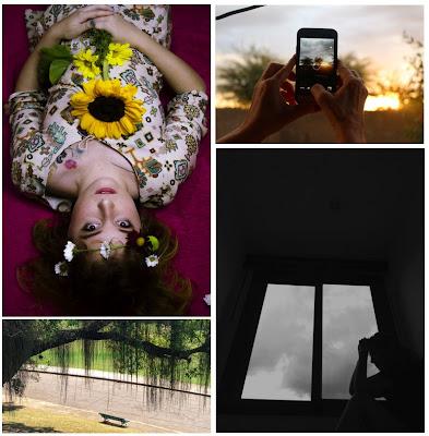 Arte no Conifnamento Fotos, no sentido horário: Priscila Prudencio, Anaey Neves, Marcelo Pardinho e Louise D'Elia
