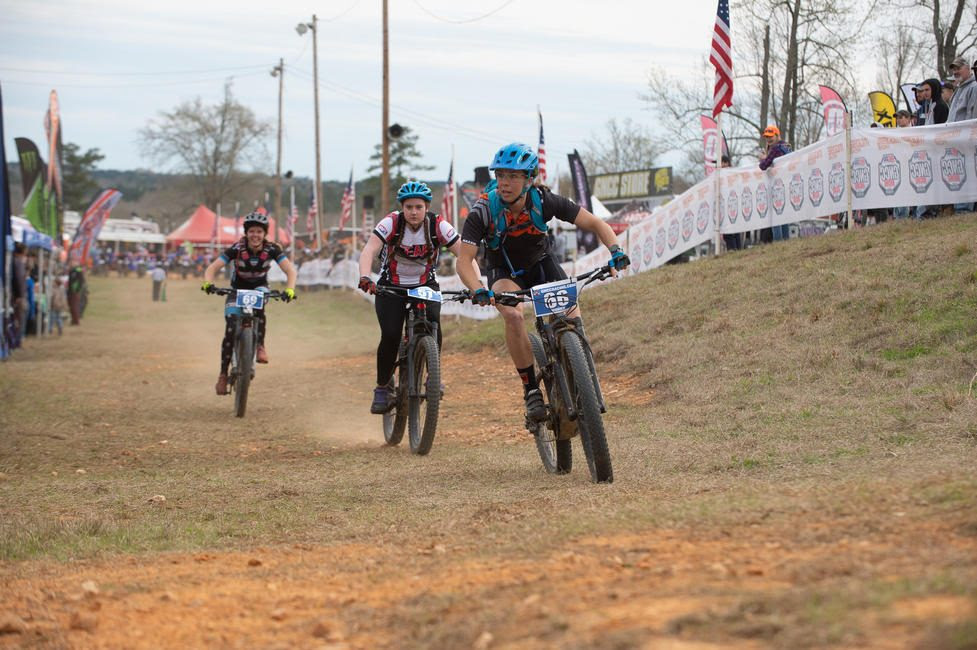 Alicia McCormick grabbed the eMTB Women's class early lead.