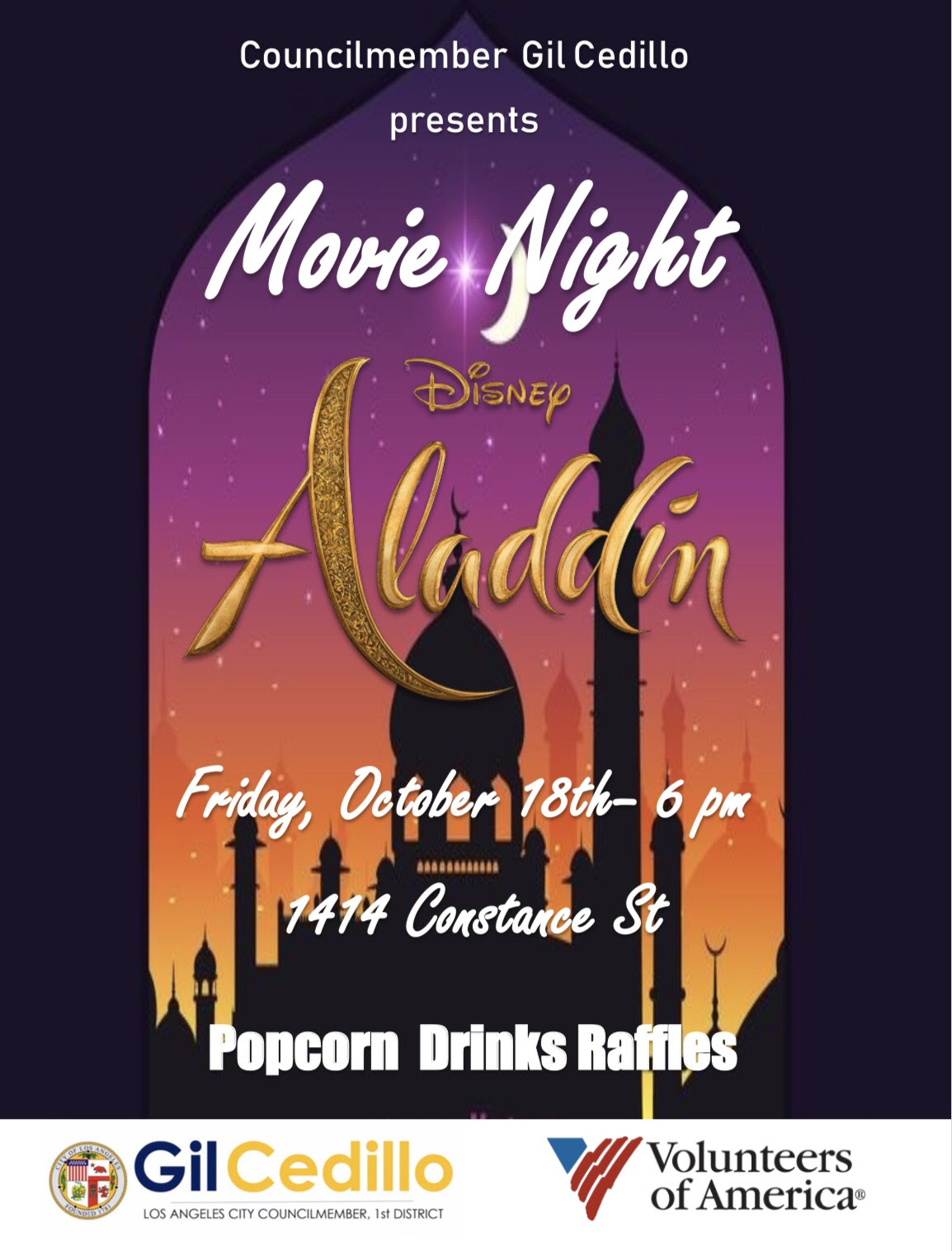 Aladdin Movie Night 10-18-19 ENGLISH