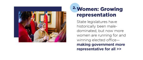2. Women: Growing representation