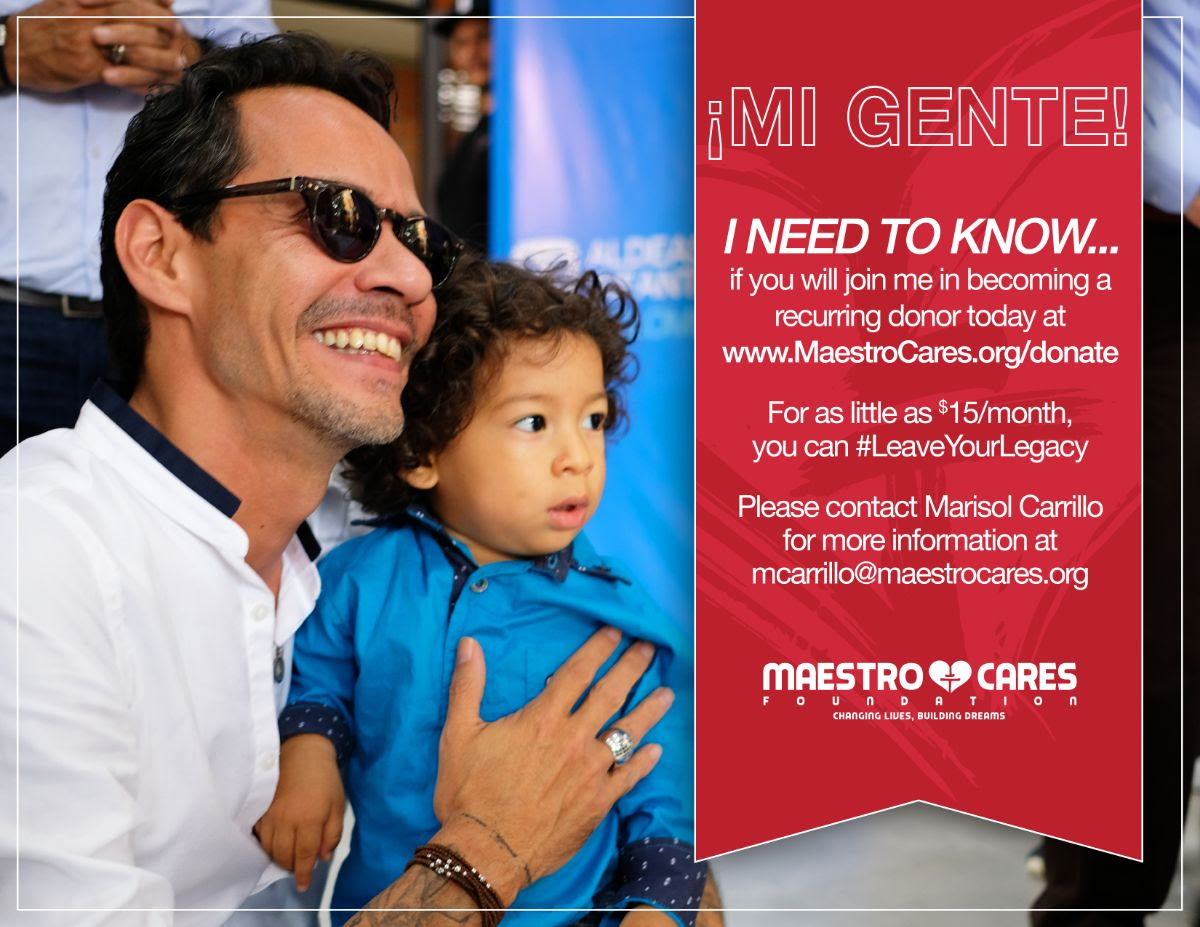 Marc with child announcing #LeaveYourLegacy campaign