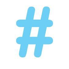 blue, hashtag