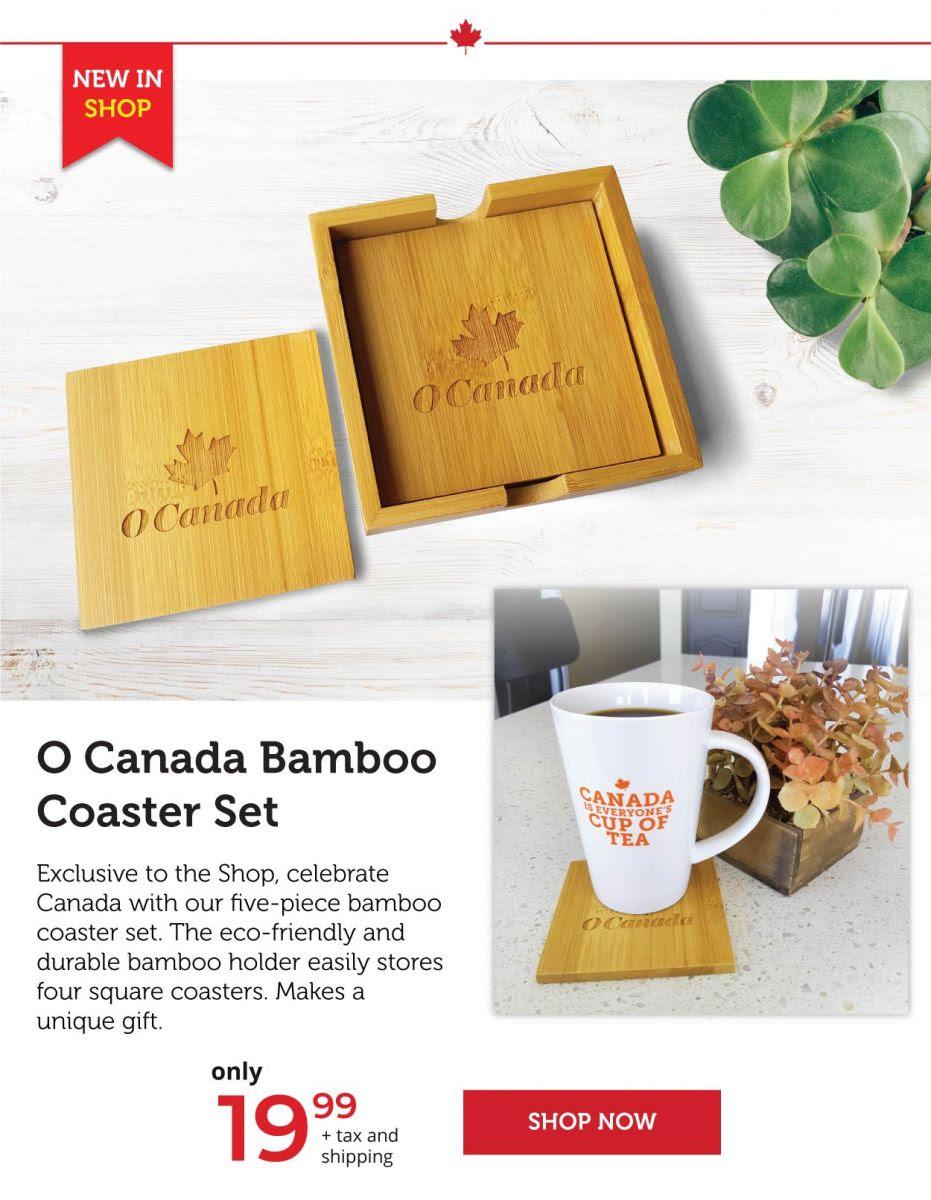O Canada Bamboo Coaster Set